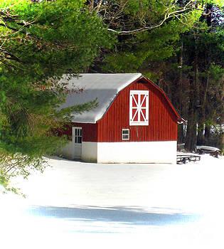 Snow Barn by Lisa Jones