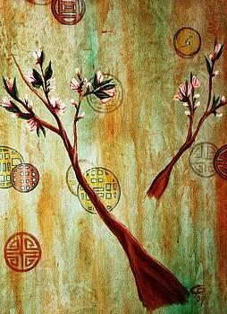 snow blossoms II by Christine Maeda