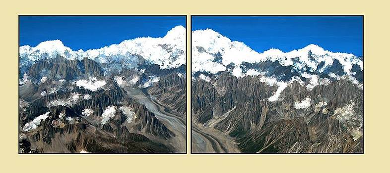 Snow Capped Canyon Panels by Bruce Nutting