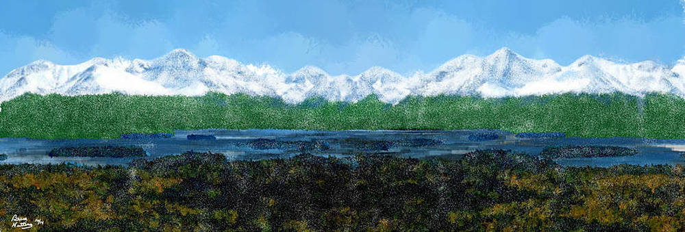 Snow Capped Mountains by Bruce Nutting