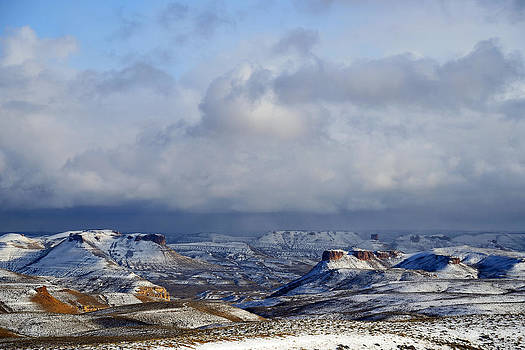 Snow Clouds Over Flaming Gorge by Eric Nielsen