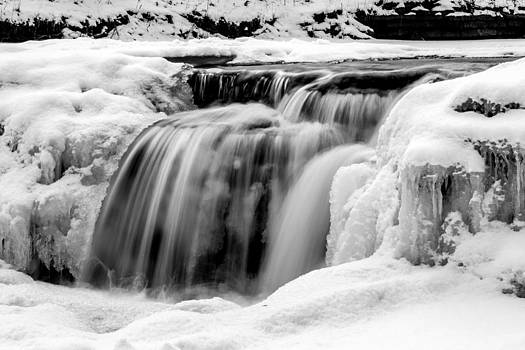 Snow Covered Waterfall by Robert Painter