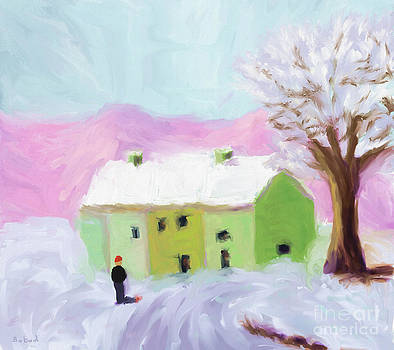 Snow in Landscape by Arlene Babad