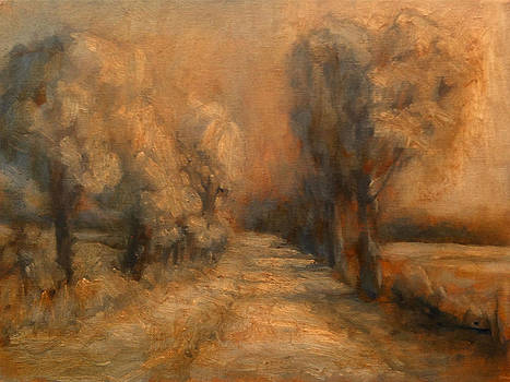 Snow In The Lane by Stephen Washington