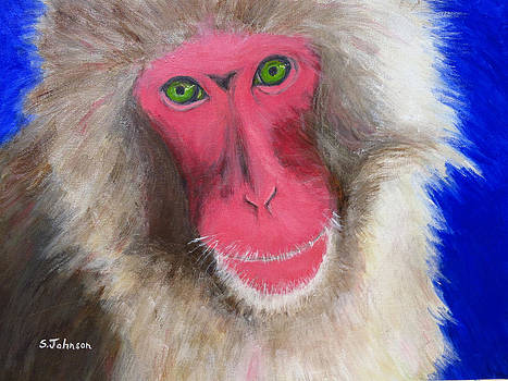 Snow Monkey by Suzanne Johnson