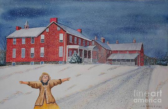 Snow On Cashtown Road by John W Walker