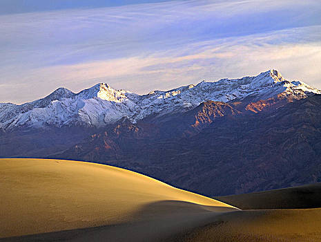Snow on the Grapevine Range. Death Valley National Park.  by Joe Schofield