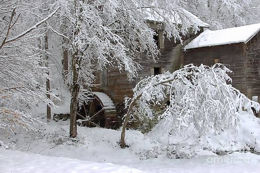 Snow on the Mill by Benanne Stiens