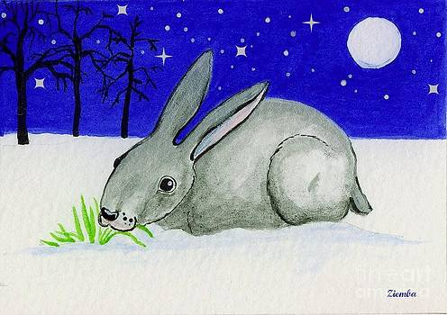 Snow Rabbit by Lori Ziemba