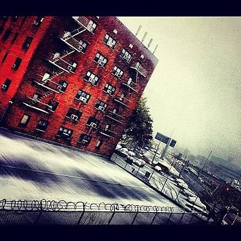 #snow #snowing #newyork #backyard by Shawn Who