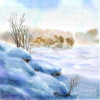 Snow Study One by Joan A Hamilton