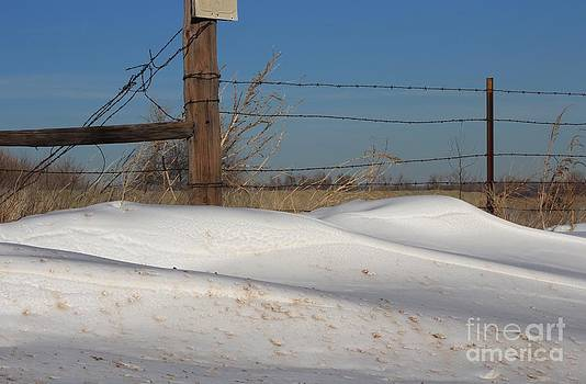 Snowbank on a Country Road by Robert D  Brozek