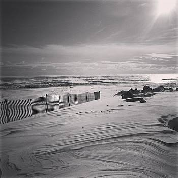 Snowdrifts and Steaming Ocean by Anastasia Pleasant
