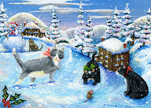 Snowfall Friends by Jacquelin Vanderwood