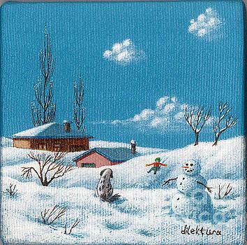 Snowman by Dilek Tura