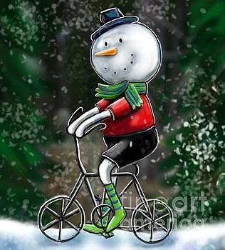 Snowman Ride by Cynthia Snyder