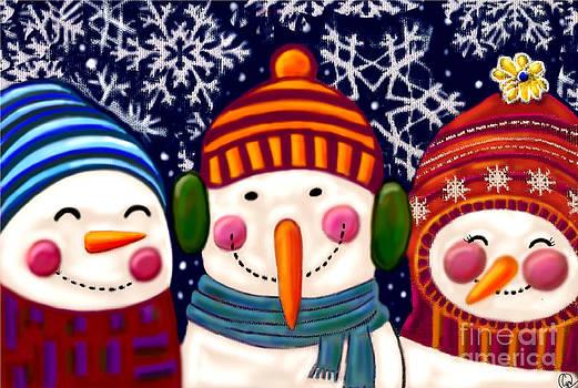 Snowman Trio by Cynthia Snyder