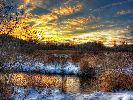 Snowy Dawn at South Ore Creek by Jenny Ellen Photography