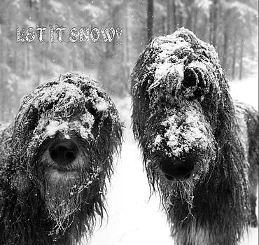 Snowy Dugs Christmas by Joak Kerr