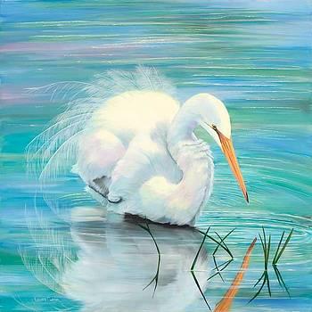 Snowy Egret by Laura Curtin