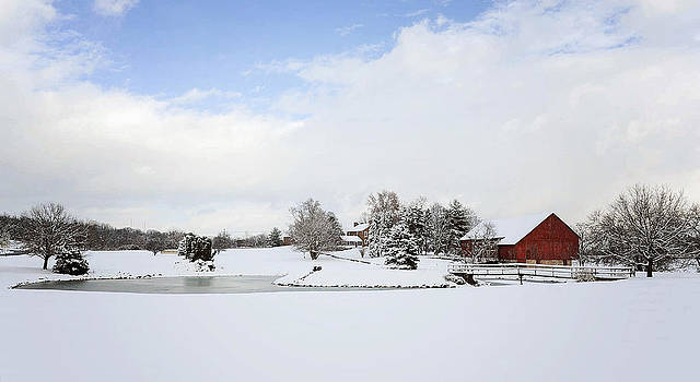 Snowy Farm by Kelley Nelson