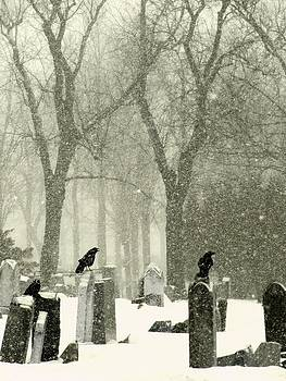 Gothicolors Donna Snyder - Snowy Graveyard Crows