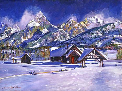 David Lloyd Glover - Snowy Log Cabin