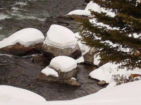 Snowy Rocks by Yvette Pichette