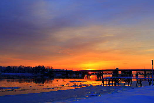 Snowy Sunrise by Suzanne DeGeorge