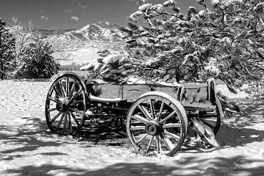 Snowy Wagon by Jim Bennett