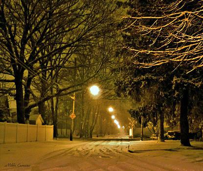 Snowy Winter Night by Mikki Cucuzzo