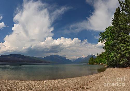Charles Kozierok - Soaring Clouds Over Lake McDonald