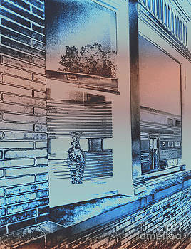 Solarizied Train Station Window Reflection by ImagesAsArt Photos And Graphics