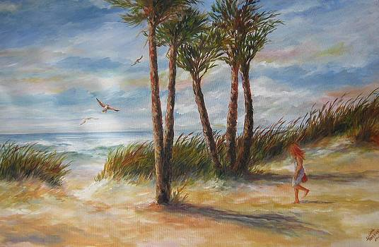 SOLD Beach entrance by Gloria Turner