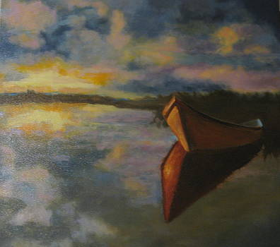 Solitary boat by Brent Moody