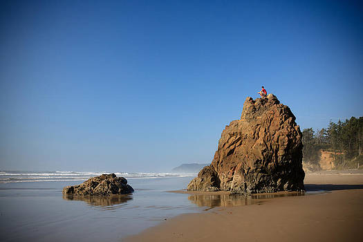 Solitary Ocean View by Karen Lee Ensley