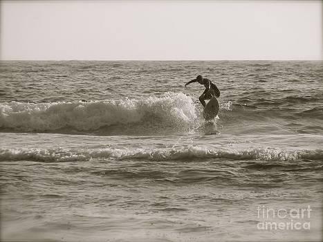 Solo surfer by Matt James