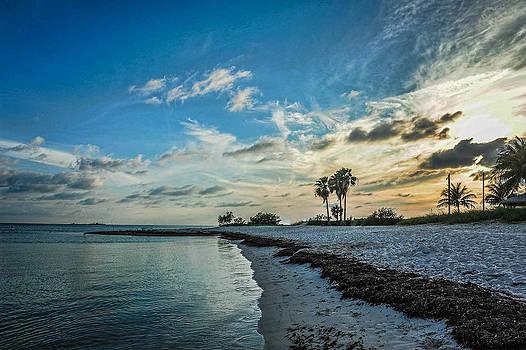 Sombrero Beach Sunset by Kelley Nelson