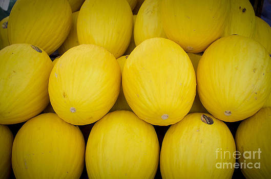 Some Fresh Melons On A Street Fair In Brazil by Ricardo Lisboa