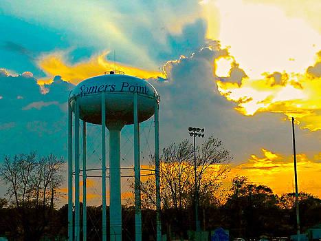 Somers Point Sunset by Lisa Merman Bender