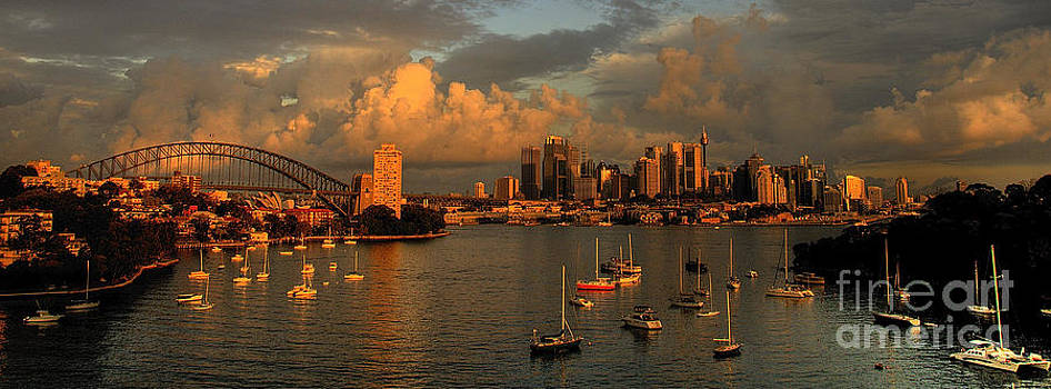 Something Evil This Way Comes - Sydney Harbour Storm by Philip Johnson