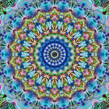 Soothing Blues Mandala by Cindi Ressler