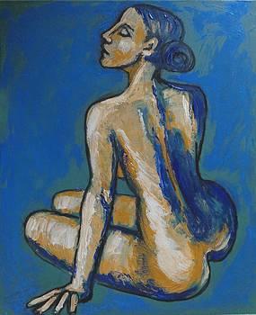 Soothing - Female Nude by Carmen Tyrrell