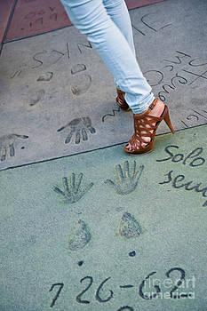 David Zanzinger - Sophia Loren handprints and footprints at Grauman