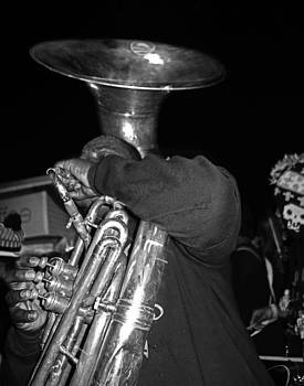 Sousaphone Player in New Orleans by Louis Maistros