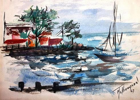 South Shore Dock 1967 by Mary Spyridon Thompson