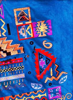 Anne-Elizabeth Whiteway - Southwestern Symbols on Blue