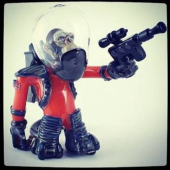 Space Monkey! This Piece Will Be On by Coyle Glass