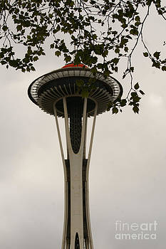 Space Needle And Tree by Walter Strausser