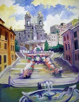 Spanish  Steps by Paul Weerasekera